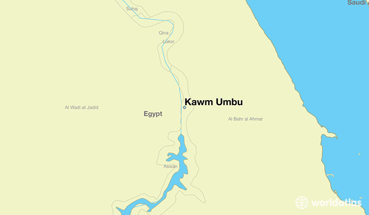 map showing the location of Kawm Umbu