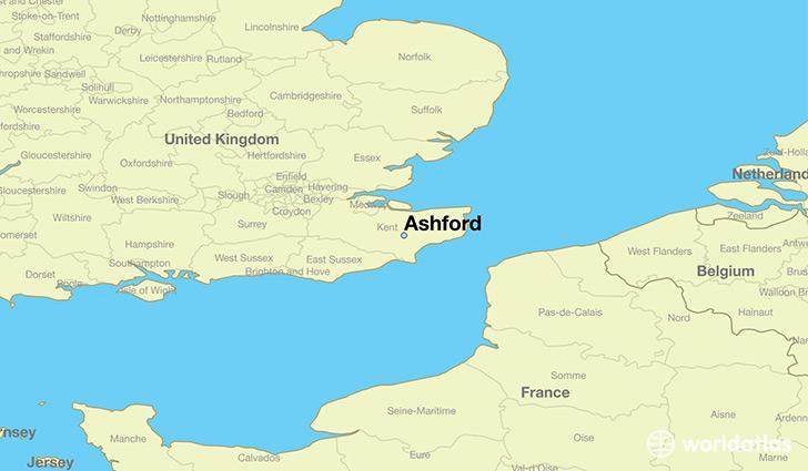 Map Of England Kent.Where Is Ashford England Ashford England Map Worldatlas Com
