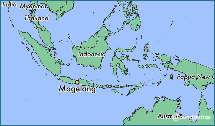map showing the location of Magelang