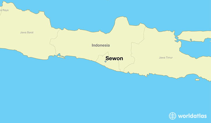 map showing the location of Sewon