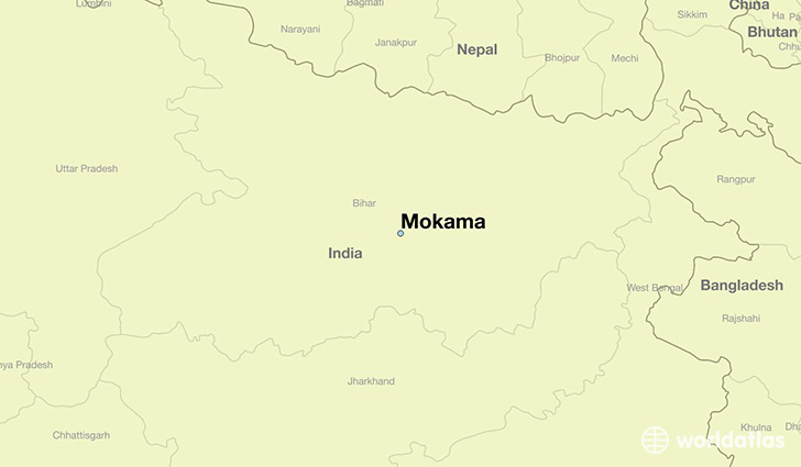 map showing the location of Mokama