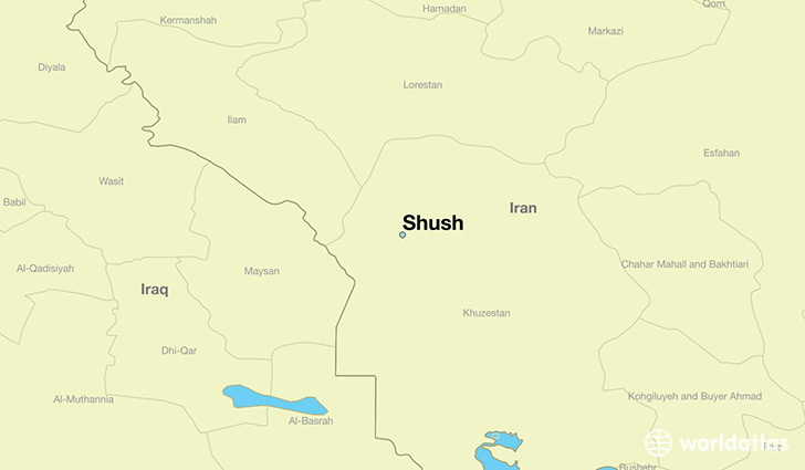 map showing the location of Shush