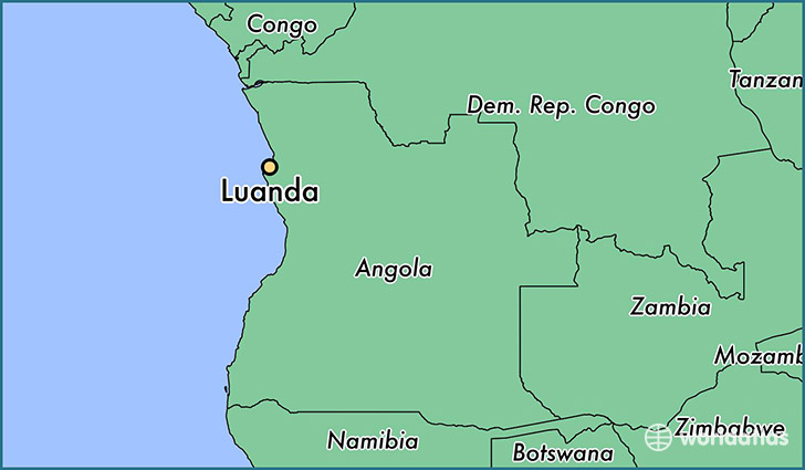 Where is Luanda Angola Luanda Luanda Map WorldAtlascom