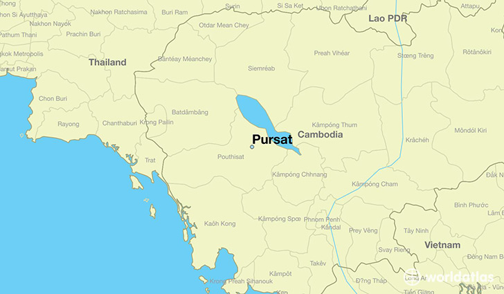 map showing the location of Pursat
