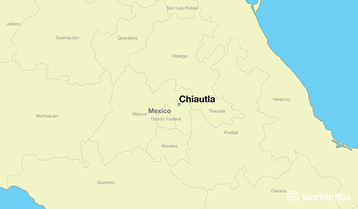 map showing the location of Chiautla