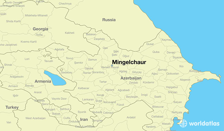 map showing the location of Mingelchaur