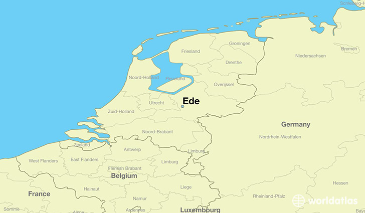 Where is Ede The Netherlands Ede Gelderland Map WorldAtlascom