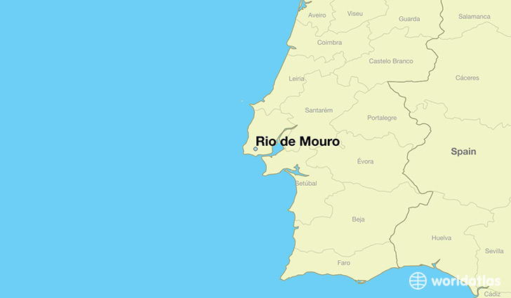 map showing the location of Rio de Mouro