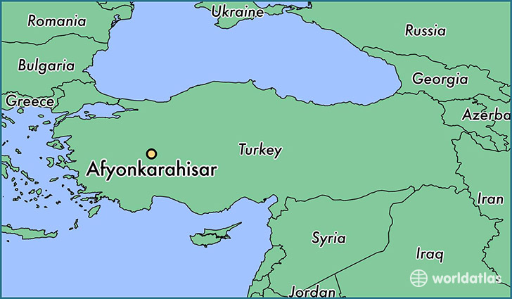 map showing the location of Afyonkarahisar