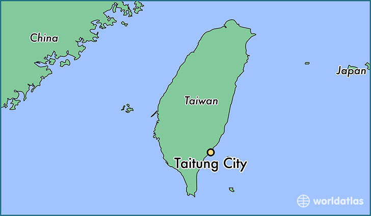 map showing the location of Taitung City