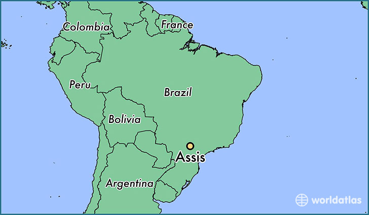 map showing the location of Assis