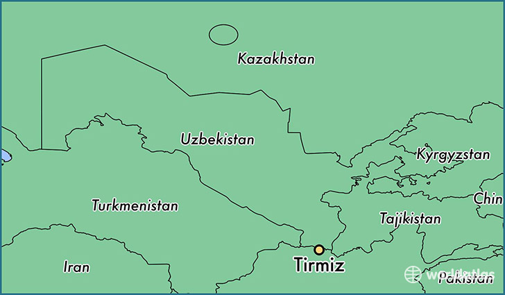 map showing the location of Tirmiz