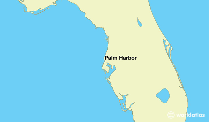map showing the location of Palm Harbor