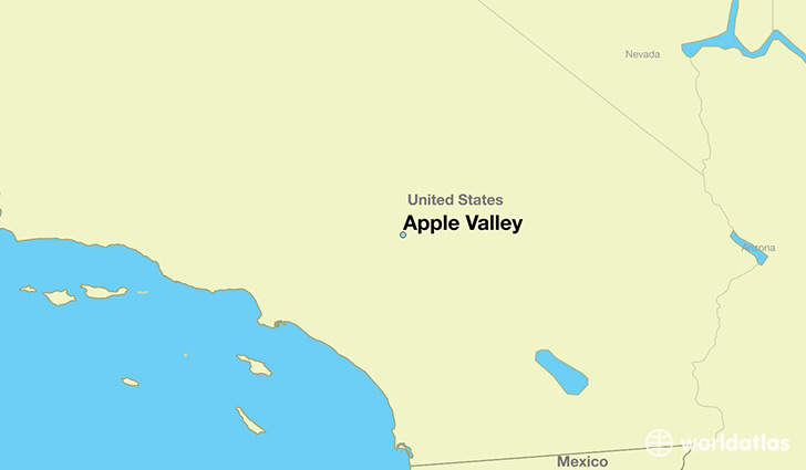 map showing the location of Apple Valley