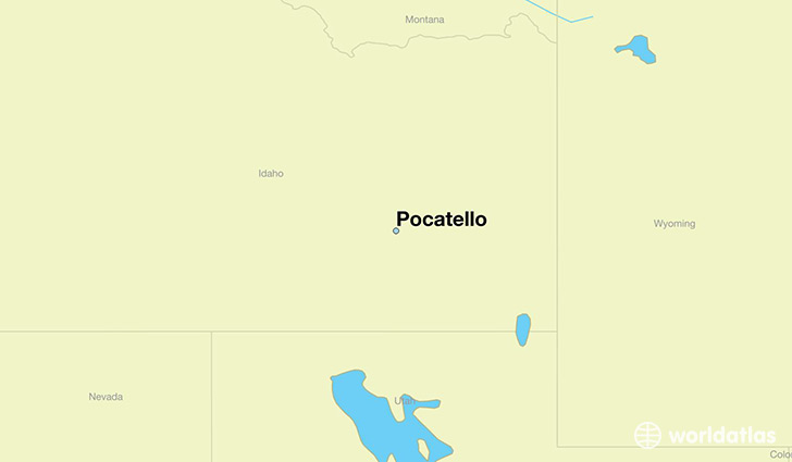 map showing the location of Pocatello