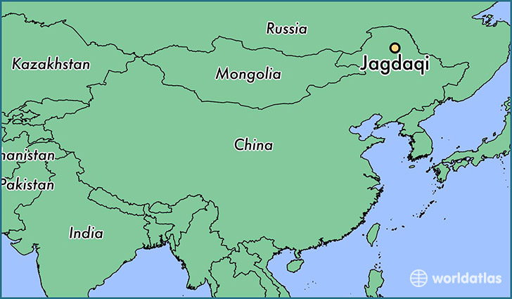 map showing the location of Jagdaqi