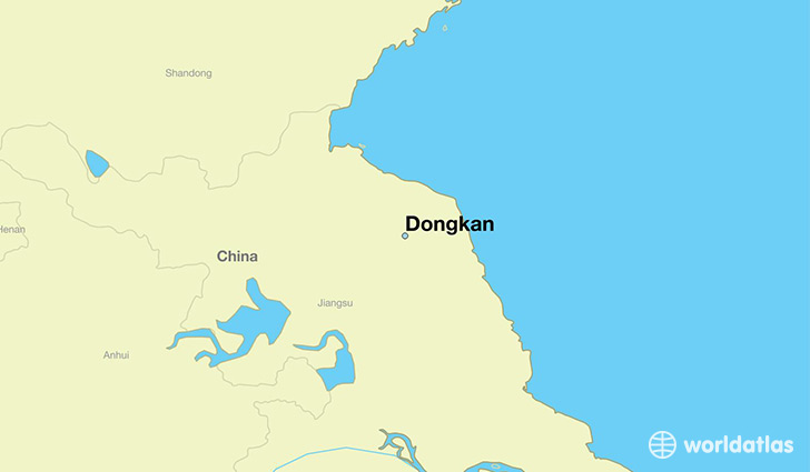 map showing the location of Dongkan