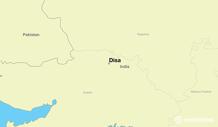 map showing the location of Disa