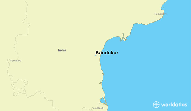 map showing the location of Kandukur