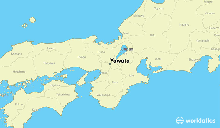 map showing the location of Yawata