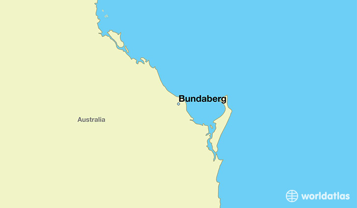 Where is Bundaberg Australia Bundaberg Queensland Map