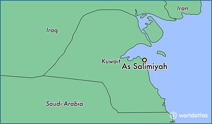 map showing the location of As Salimiyah