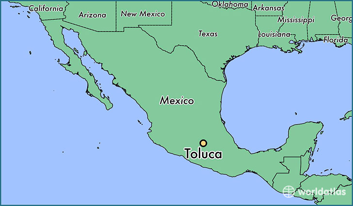 Where is Toluca Mexico Toluca Mexico Map WorldAtlascom