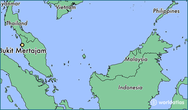 map showing the location of Bukit Mertajam