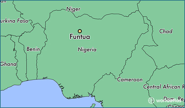 map showing the location of Funtua
