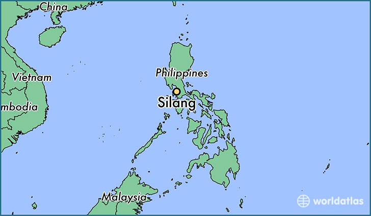 map showing the location of Silang