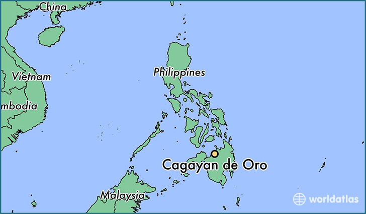 map showing the location of Cagayan de Oro