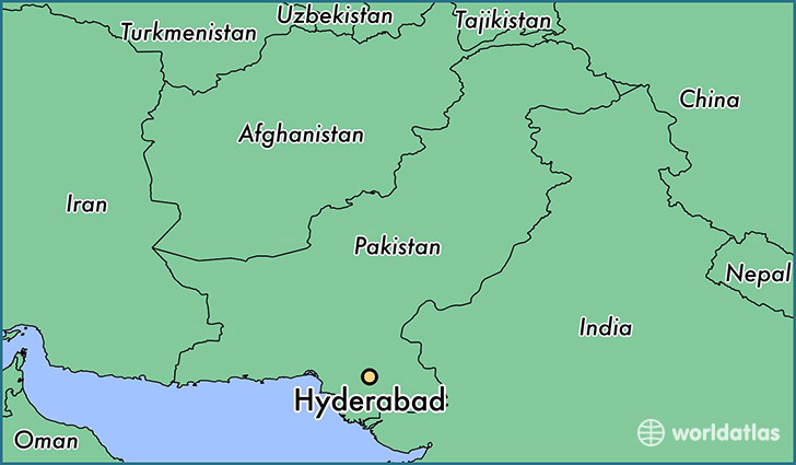 map showing the location of Hyderabad