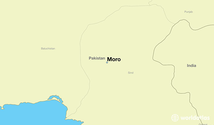 map showing the location of Moro