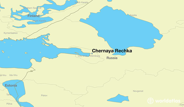 map showing the location of Chernaya Rechka