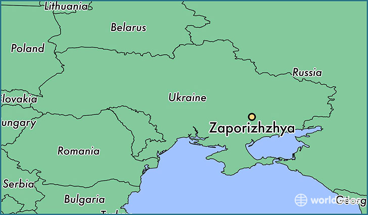 map showing the location of Zaporizhzhya