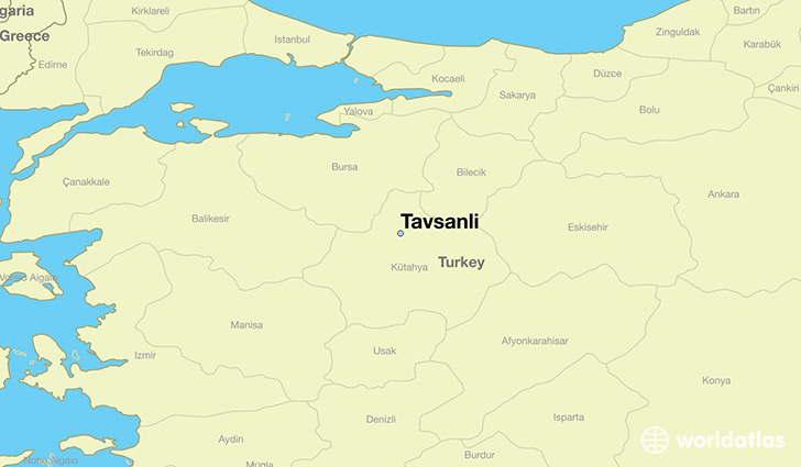map showing the location of Tavsanli