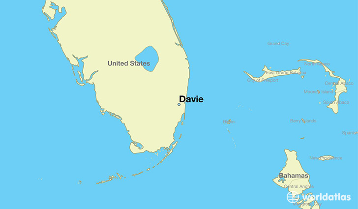 map showing the location of Davie