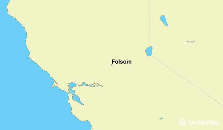 map showing the location of Folsom
