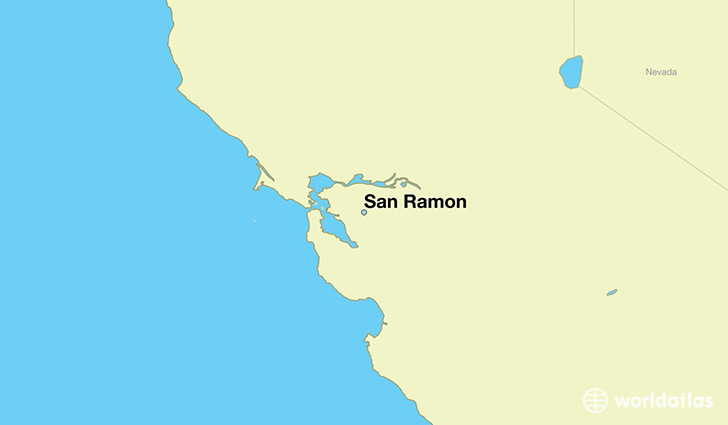 map showing the location of San Ramon