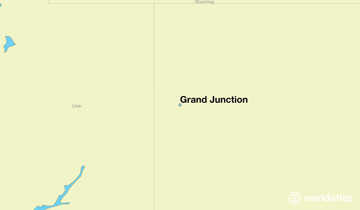 map showing the location of Grand Junction