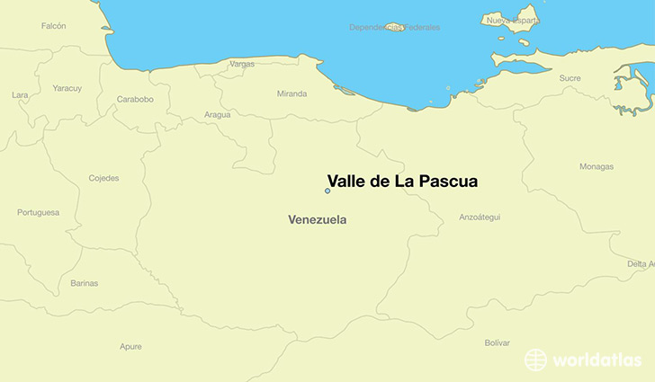 map showing the location of Valle de La Pascua