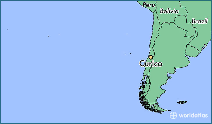 map showing the location of Curico