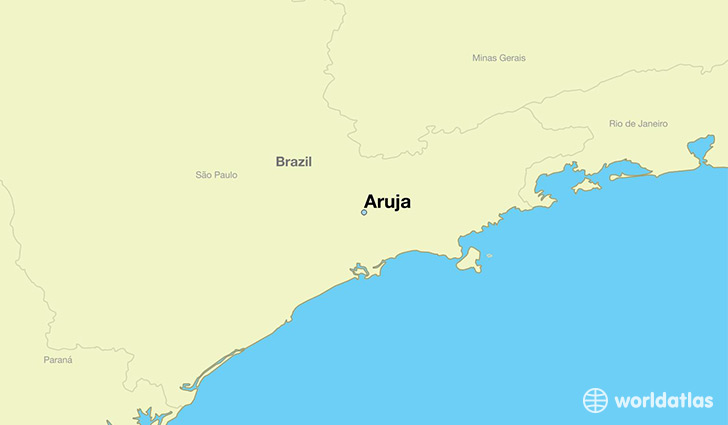 map showing the location of Aruja
