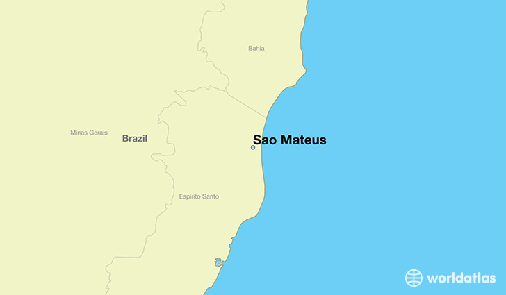 map showing the location of Sao Mateus
