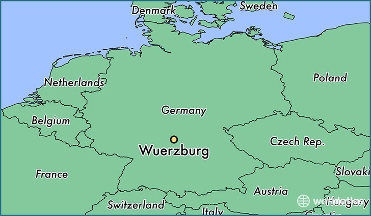 Where is Wuerzburg Germany Wuerzburg Bavaria Map WorldAtlascom