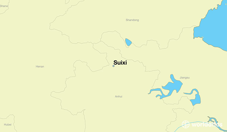 map showing the location of Suixi