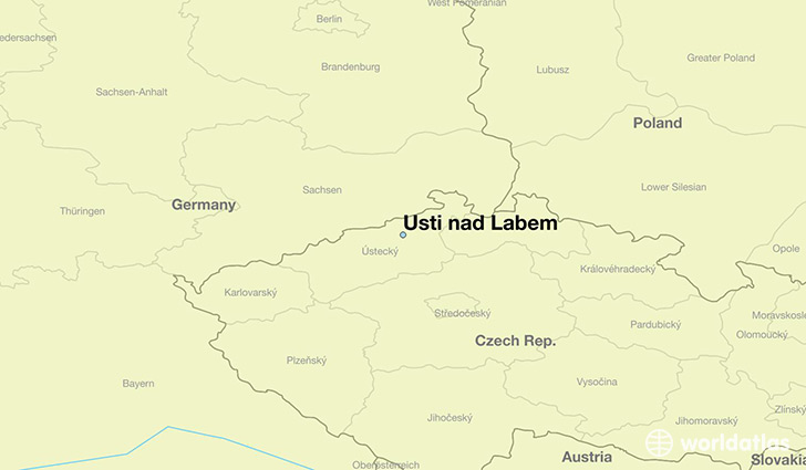 map showing the location of Usti nad Labem