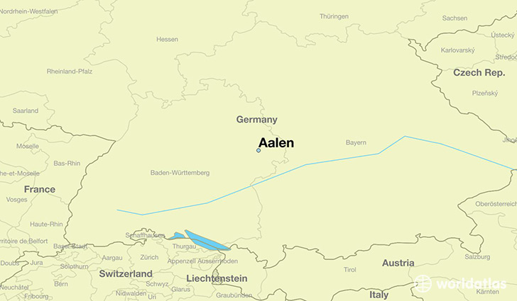 map showing the location of Aalen