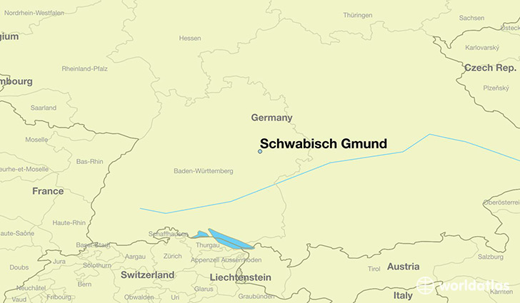 map showing the location of Schwabisch Gmund