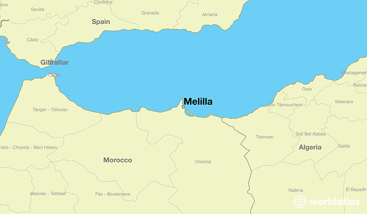 Where Is Melilla Spain Melilla Melilla Map WorldAtlascom - Where is spain located